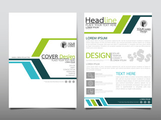 Blue and green technology flyer cover business brochure vector design, Leaflet advertising abstract background, Modern poster magazine layout template, Annual report for presentation.