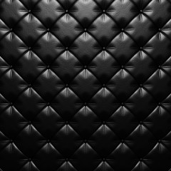 Black leather upholstery texture luxury background