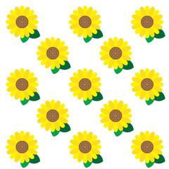 YELLOW SUNFLOWER PATTERN