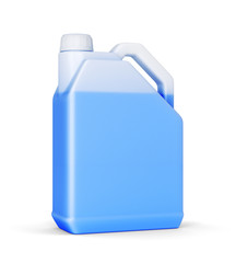Jerry can with blue liquid