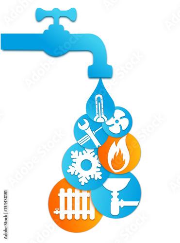 Logo Plombier Climatisation Chauffage Ventilation