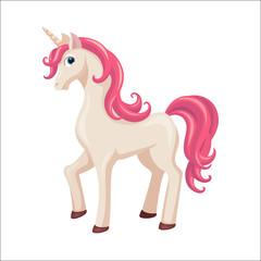 Unicorn. Cute horse