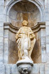 Escultura de San Pedro de Montes. Monasterio de San Pedro de Montes. Montes de Valdueza. El Bierzo, León, España.