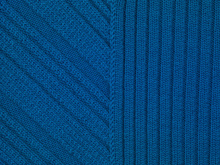 blue fabric texture close up