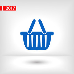 basket  icon, vector illustration. Flat design style