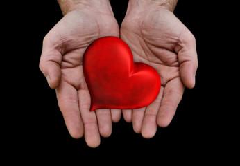 saint valentin cœurs mains