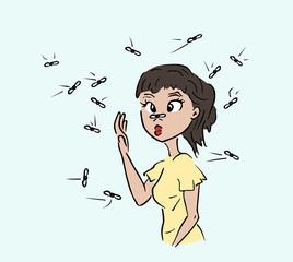 Last van muggen vliegen en andere insecten