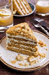 Layer cake with white cream