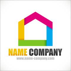 logo artisan décorateur peintre interieur conseil maison