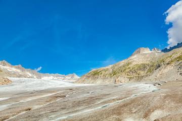 view of rhone glacier in switzerland