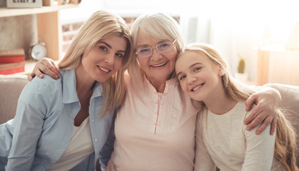 Daughter, mom and granny