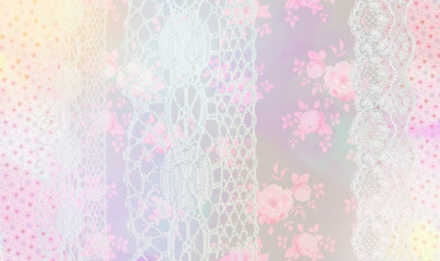 Soft vintage pattern background