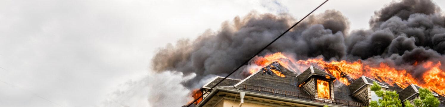 Panorama Dachstuhlbrand