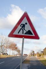 Baustelle Straßenschild