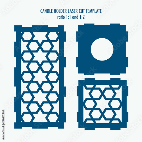 Laser cut template for candle holder diy laser cutting for Six pack holder template