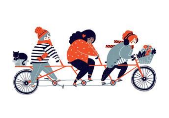 Biker Girls Cycling