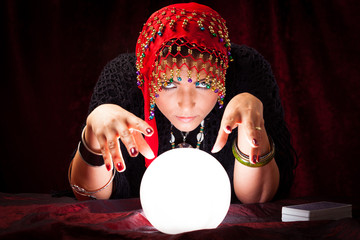 Crazy Fortune Teller With Crystal Ball