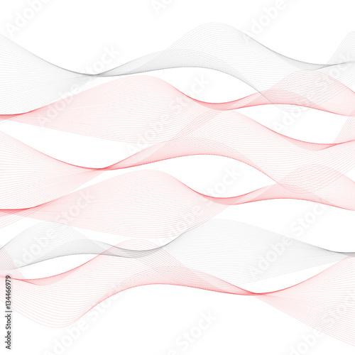 Onde Lineari Griggie E Rosse Orizzontali Sullo Sfondo Bianco File