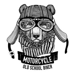 Wild BEAR for motorcycle, biker t-shirt