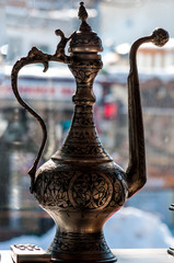 arabic antique silver coffee pot