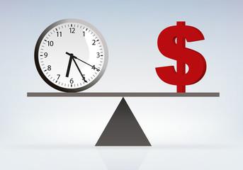 Temps - Argent - Travail - Capitalisme - Dollar