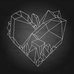 Graphic crystal heart