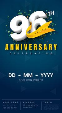 anniversary invitation card template design