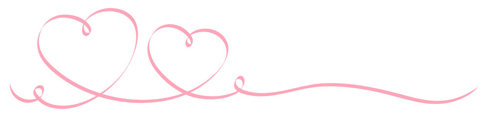 2 Rose Calligraphy Hearts Ribbon Banner