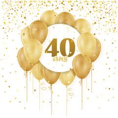 CARTE JOYEUX ANNIVERSAURE 40 ANS