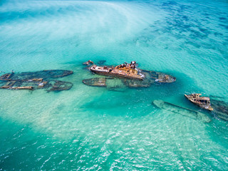 Shipwrecks on Moreton Island, Queensland, Australia