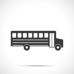 School bus icon. Flat design style.