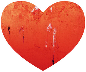 Grungy Valentines Day Love Heart