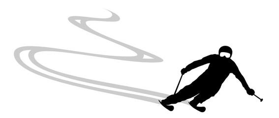 Skifahrer Silhouette