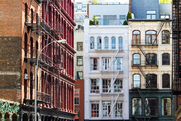 Historic buildings in SoHo Manhattan New York City NYC