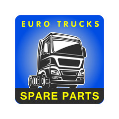 Truck spare parts cargo freight logo template