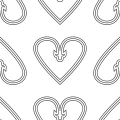 Seamless hearts pattern, vector