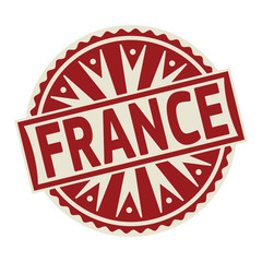 Stamp, label or tag business concept with text France