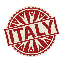 Stamp, label or tag business concept with the text Italy