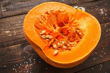 Pumpkin Autumn Healthy Food Nutrition Seasonal Vegetable Concept