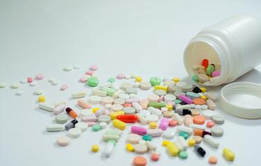 assorted pills and capsules in medicine