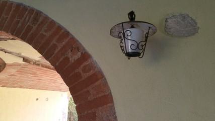 lampione da esterno ferro battuto