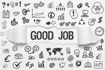 Good Job / weißes Papier mit Symbole