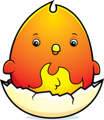 Cartoon Baby Phoenix Egg