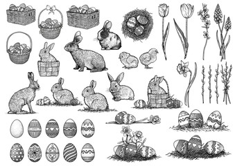Easter illustration, collection