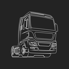 Truck outline cargo freight logo template