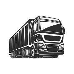 Truck cargo silhouette freight logo template