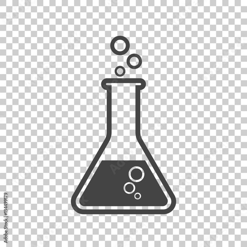 Chemical Test Tube Pictogram Icon Chemical Lab Equipment Isolated