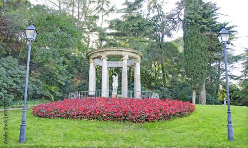 Jardines y esculturas del palacete de albeniz montjuic barcelona stock photo and royalty - Jardines de montjuic ...
