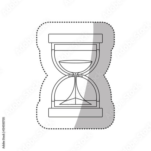 quothourglass antique clock icon vector illustraton graphic