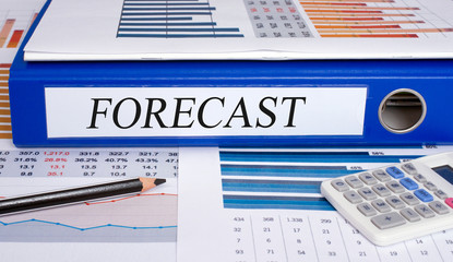 Forecast Binder in the Office with statistics and calculator
